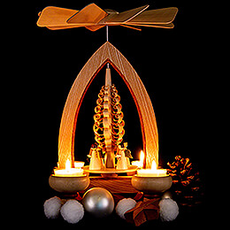 1-Tier Pyramid - Angels - Natural - 28 cm / 11 inch