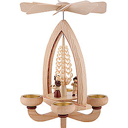 1-Tier Pyramid - Wind Section - Natural - 28 cm / 11 inch