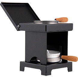 Stool Cooker 'The Lil' One' Black - 9 cm / 3.5 inch