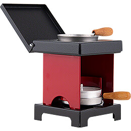Stool Cooker 'The Lil' One' Red-Black - 9 cm / 3.5 inch