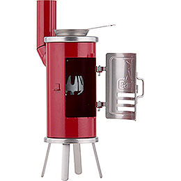 Smoking Stove - Carpener's Glue Stove Red/Black - 14,5 cm / 5.7 inch