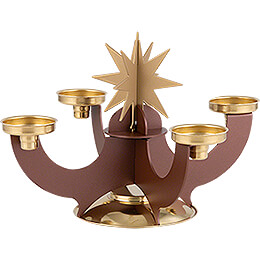 Candle Holder with Incense Cone Option - Copper - 16 cm / 6.3 inch
