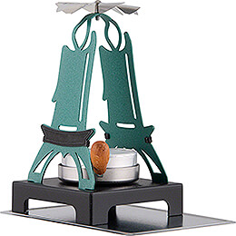 Pyramid Tea Light Holder - Green - 11 cm / 4.3 inch