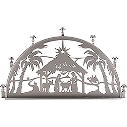 Candle Arch for Inside - Stainless Steel - Nativity - 60x35 cm / 23.6x13.8 inch