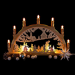 Candle Arch - Winter Children - 57x38 cm / 22.4x15 inch