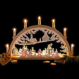 Candle Arch - Winter Children - 66x41 cm / 26x16.1 inch