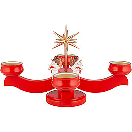 Candle Holder - Angels Red - 19 cm / 7.5 inch