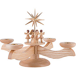 Candle Holder - 4 Angels Natural - 26 cm / 10.2 inch