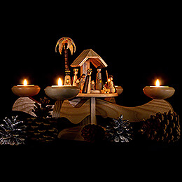 Candle Holder - Nativity Natural - 20 cm / 7.9 inch
