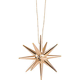 Tree Ornament - Christmas Star Gold - 7 cm / 2.8 inch