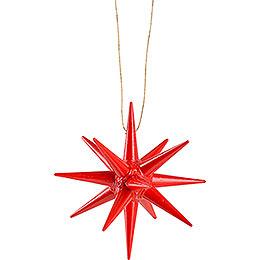 Christbaumschmuck Weihnachtsstern rot  - 7 cm