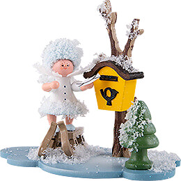 Snowflake with Mailbox - 10 cm / 3.9 inch