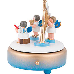 Spieldose mit Engeln und Harfe - 14 cm