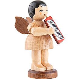 Engel mit Melodica - natur - stehend - 9,5 cm