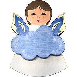 Magnetpins 3er-Set - Engel mit Herz, Stern, Wolke - Blaue Flügel - 7,5 cm