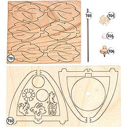 Handicraft Set - 1-Tier Thermic Pyramid - Autumn - 12 cm / 4.7 inch