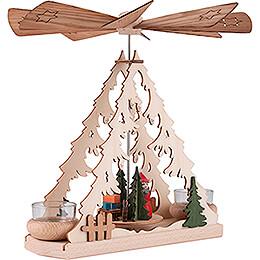 1-Tier Pyramid with Santa - 26 cm / 10.2 inch