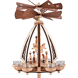 2-Tier Pyramid - Nativity - Contra-rotating - 43 cm / 16.9 inch