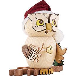 Räuchereule Weihnachtsmann - 15 cm