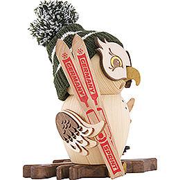 Räuchereule Skifahrer - 15 cm