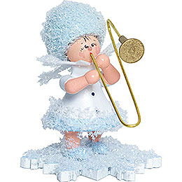 Snowflake with Trombone - 5 cm / 2 inch