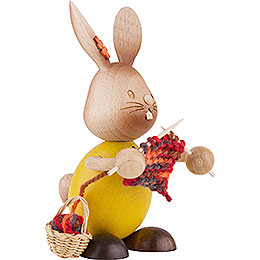 Snubby Bunny with Knitting - 12 cm / 4.7 inch