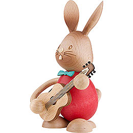 Snubby Bunny with Guitar - 12 cm / 4.7 inch