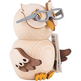 Mini Owl with Glasses - 7 cm / 2.8 inch