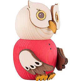 Mini Owl Red - 7 cm / 2.8 inch