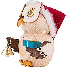 Mini Owl Santa - 7 cm / 2.8 inch