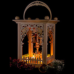 Pyramid Lantern - Bells and Angels - 38 cm / 15 inch