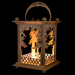 Pyramid Lantern - Forest - without Figurines - 38 cm / 15 inch