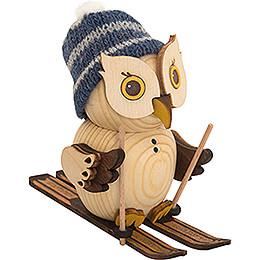 Mini Owl with Ski - 7 cm / 2.8 inch