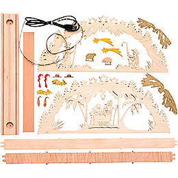 Handicraft Set - Candle Arch - Nativity - 55x27 cm / 21.7x10.6 inch