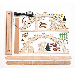 Handicraft Set - Candle Arch - Snowman - 55x27 cm / 21.7x10.6 inch