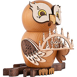 Smoker - Owl with Candle Arch - 15 cm / 5.9 inch