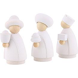 Heilige Drei Könige weiß/natur - klein - 7 cm