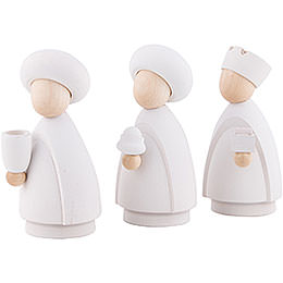 The Three Wise Men White/Natural - Large - 10,0 cm / 4.0 inch