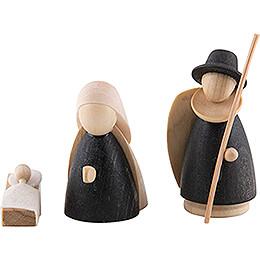 Die heilige Familie natur/anthrazit - klein - 7 cm
