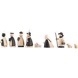 9-teiliges Krippenset natur/anthrazit - 5,5 cm