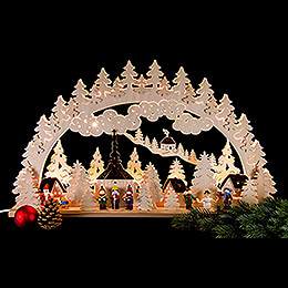 Candle Arch - Christmas in Seiffen - 70x45 cm / 28x18 inch