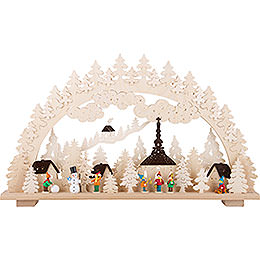 Candle Arch - Winter in Seiffen - 70x45 cm / 28x18 inch