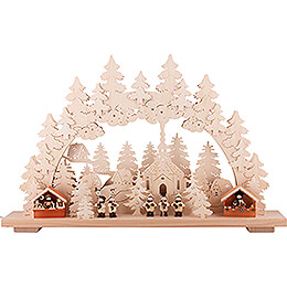 Candle Arch - Christmas Market - 70x42 cm / 28x17 inch