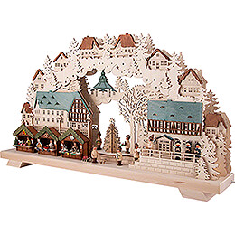 Candle Arch - Christmas Market with Tree - 70x40 cm / 27x16 inch