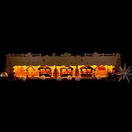 Illuminated Stand - Christmas Market - 73x16,5 cm / 28.7x6.5 inch
