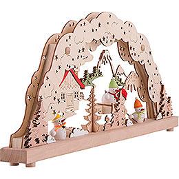 Candle Arch - Snow Men - 50,5x22,5 cm / 20x8.9 inch
