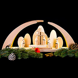 Candle Arch - LED Modern Carolers and Church - 62x26,5 cm / 24x10.4 inch