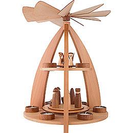 2-stöckige Pyramide modernes Design Krippenfiguren - 42 cm