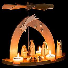 1-Tier Pyramid - Nativity - 23 cm / 9 inch