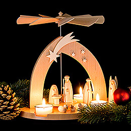 1-stöckige Pyramide Christi Geburt - 23 cm